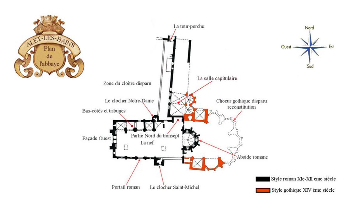 Cathédrale abbaye alet les bains