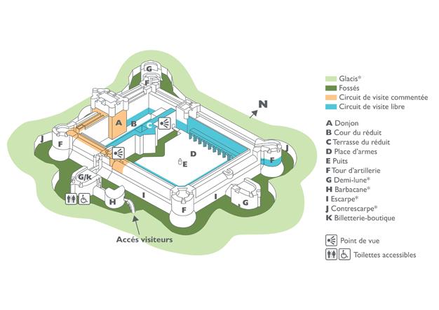 plan de la forteresse de Salses